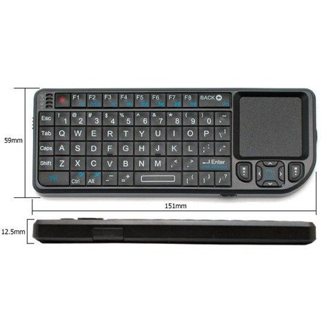 Беспроводная мини-клавиатура с тачпадом (черная)
