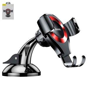 Автомобильный держатель Baseus, черный, красный, магнитный, вакуумная присоска, #SUYL XP09