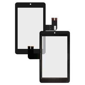 Touchscreen compatible with Asus MeMO Pad HD7 ME173X (K00B), (black) #076C3-0716A