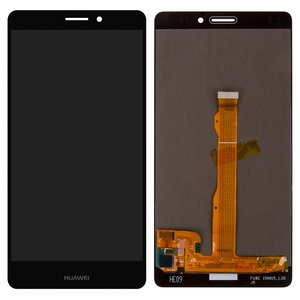 LCD compatible with Huawei Mate S, (black, with touchscreen, Original (PRC), CRR-L09)