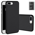 Case Nillkin Synthetic fiber compatible with iPhone 7 Plus, (black, without logo hole, Ultra Slim, plastic) #6902048127906