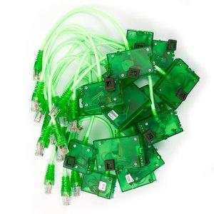 Juego de cables FBUS SL3 con indicadores LED para MXKEY (17 uds)