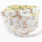 Tira de luces LED RGB SMD5050, WS2813 (blanca, con controles,  IP20, 5 V, 30 LED/m, 5 m)