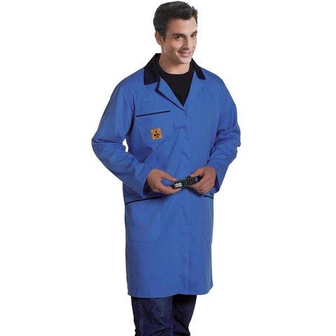 Антистатический халат Warmbier AM160, голубой 2618.AM160.B.M
