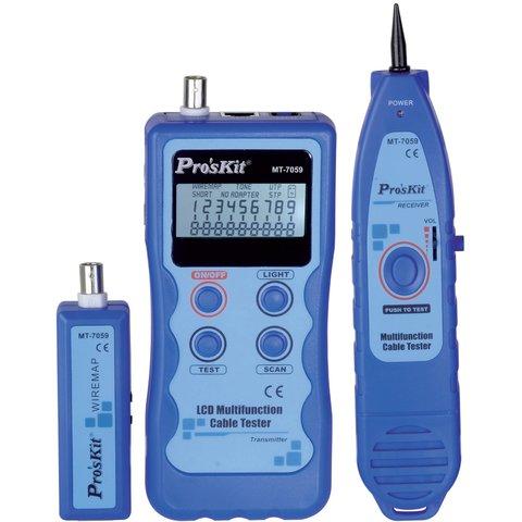 Тестер телекомунікаційних мереж та ліній передачі даних Pro'sKit MT 7059